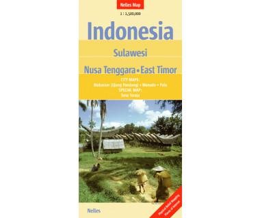 Indonesia. Sulawesi, Nusa Tenggara, East Timor - Mapa