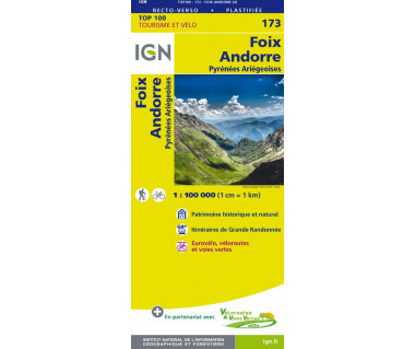 IGN100 173 Foix / Andorre / Pyrenees Ariegeoises