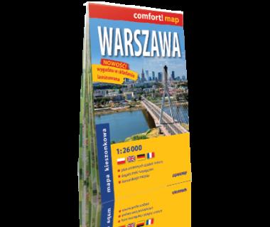 Warszawa plan laminowany kieszonkowy