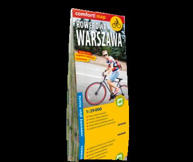 Rowerowa Warszawa mapa laminowana