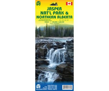 Jasper NP & Northern Alberta - Mapa