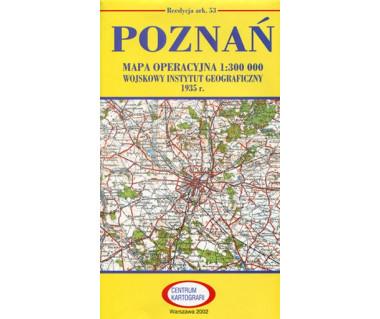 Poznań mapa operacyjna ark. 53 reedycja WIG 1935 r.