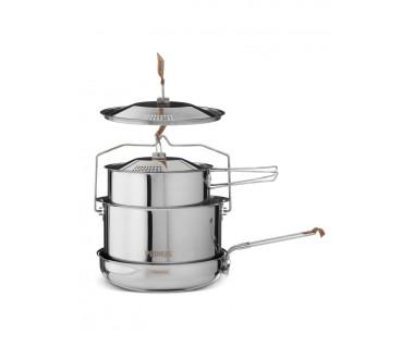 Zestaw naczyń stalowych CampFire Cookset Large