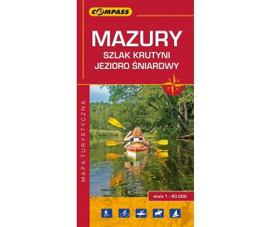 Mazury, szlak Krutyni, Jezioro Śniardwy mapa turystyczna