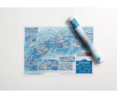 Alpine Skiing Collect & Scratch (mapa zdrapka) 59,4x42cm