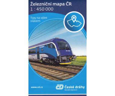 Czechy mapa linii kolejowych