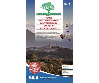 50-4 Cuneo, Valli Monregalesi, Val Vermegnana, Val Pesio, Alta Val Tanaro