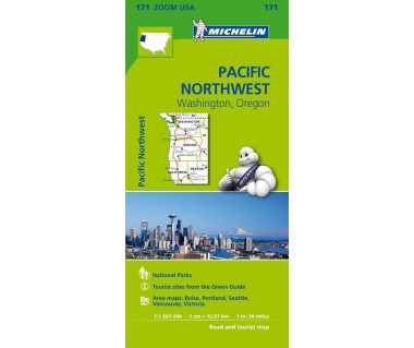 M 171 Pacific Northwest (Washington, Oregon) - Mapa