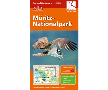 Müritz-Nationalpark - Radwanderkarte - Wanderkarte (Blatt 01)