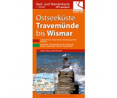 Ostseeküste Travemünde bis Wismar - Radwanderkarte - Wanderkarte (Blatt 23)