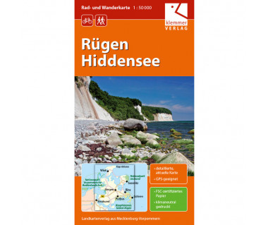 Rügen Hiddensee - Radwanderkarte - Wanderkarte (Blatt 03)
