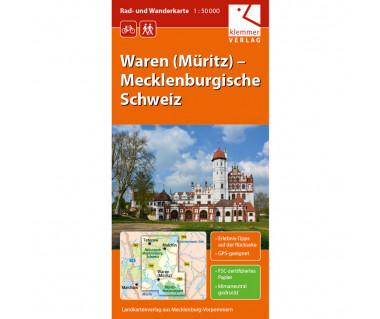 Waren (Müritz) - Mecklenburgische Schweiz - Radwanderkarte - Wanderkarte (Blatt 06)