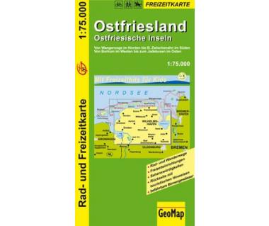 Ostfriesland - Ostfriesische Inseln 1:75.000