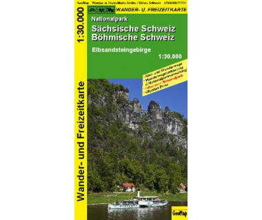 Sachsische Schweiz Nationalpark - Mapa laminowana