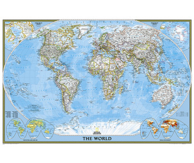 World Classic laminated map 91x61 cm