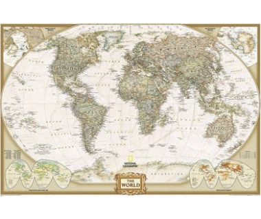 World Executive laminated map 91x61 cm