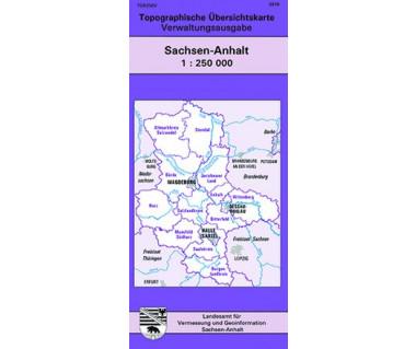 Topographische Übersichtskarte Sachsen-Anhalt 1:250.000
