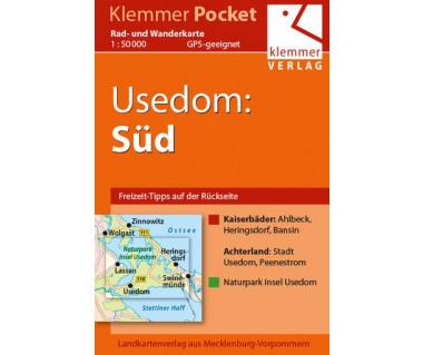 Usedom Süd - Radwanderkarte - Wanderkarte (Blatt 26)