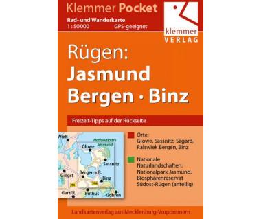 Rügen: Jasmund, Bergen, Binz - Radwanderkarte - Wanderkarte (Blatt 17)