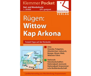Rügen: Wittow, Kap Arkona - Radwanderkarte - Wanderkarte (Blatt 19)