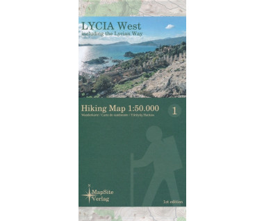 Lycia West hiking map