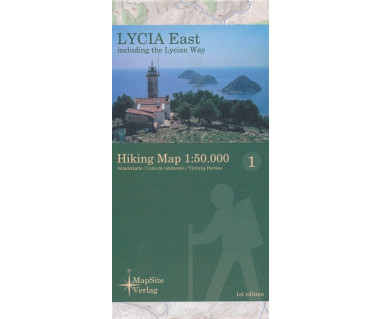 Lycia East hiking map
