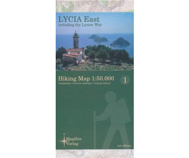 Lycia East hiking map