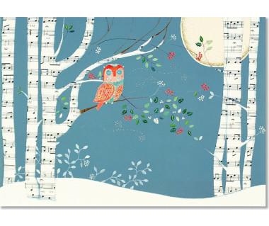 Kartka świąteczna Musical Owl