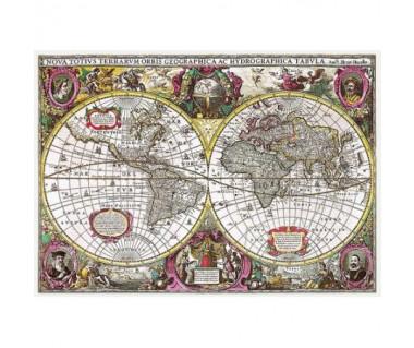 """Puzzle 2000 """"Mapa Ziemi, 1630"""", Henricus Hondius"""