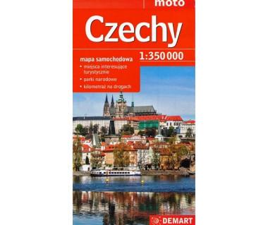 Czechy mapa samochodowa