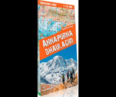 Annapurna, Dhaulagiri trekking map