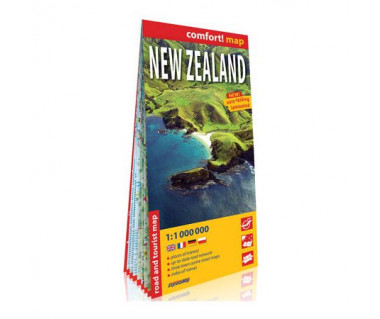 New Zealand mapa laminowana