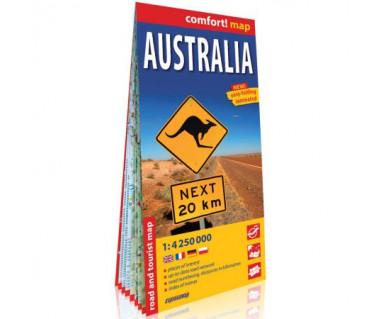 Australia mapa laminowana