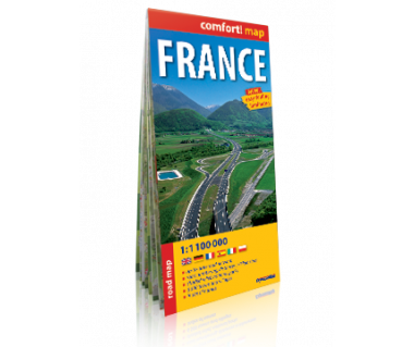 France road map laminowana