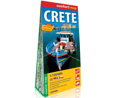 Crete mapa laminowana
