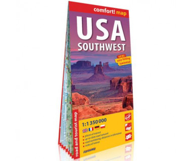 USA Southwest mapa laminowana