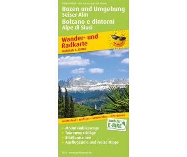 1515 Bozen und Umgebung, Seiser Alm / Bolzano e dintorni, Alpe di Siusi