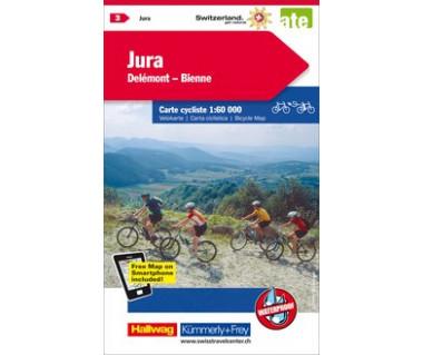 Jura / Delémont-Bienne cycle map
