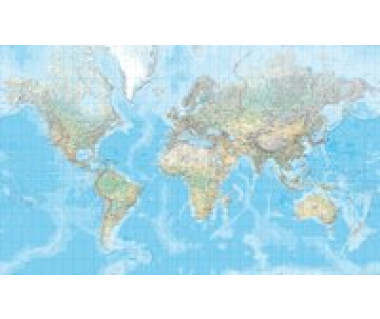 Welt physikalisch / 3 Blätter geklebt 1:20 000 000