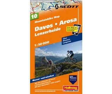 Davos / Arosa / Lenzerheide MTB map