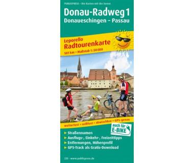 235 Donau-Radweg 1, Donaueschingen - Passau