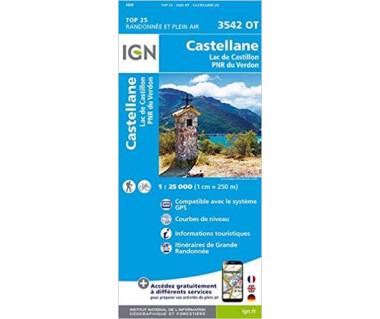 IGN 3542 OT Castellane / Lac de Castillon / PNR du Verdon
