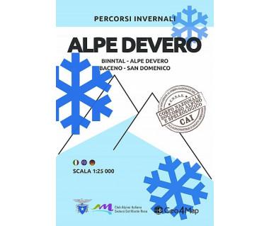 Alpe Devero Binntal-Alpe Devero-Baceno-San Domenico Mapa zimowa