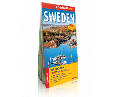 Sweden mapa laminowana