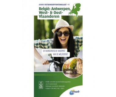 BL100 9 Belgie: Antwerpen, West- & Oost- Vlaanderen