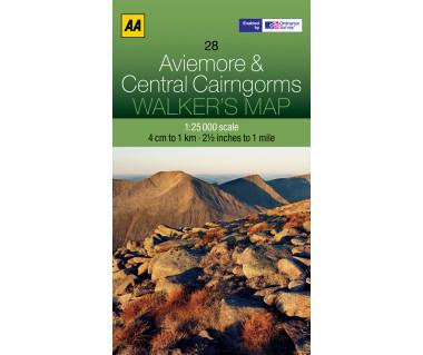 Aviemore & Central Cairngorms Walker's map