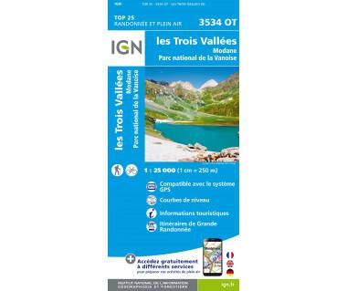 IGN 3534 OT Les Trois Vallees / Modane / Parc National de la Vanoise