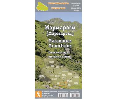 Góry Marmaroskie, Hryniawa mapa laminowana