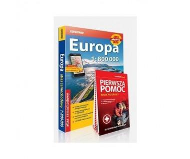 Europa atlas samochodowy + Pierwsza Pomoc