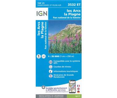 IGN 3532 ET Les Arcs La Plagne, PN de Vanoise